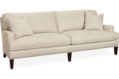 Lee Industries 3163-32 Two Cushion Sofa Overall: W86  D39  H35   Inside: W76  D23  H16   Seat Height: 18 Arm Height: 23 Back Rail Height: 31