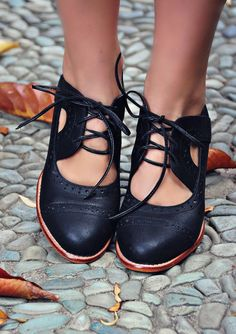 Add a touch of vintage to your outfit with these beautiful Stockholm leather booties