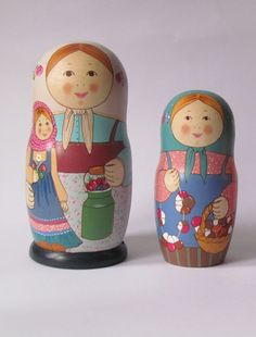 Two Matryoshkas - Russian nesting dolls