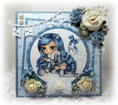 Digital Digi Stamp-Miss Kitty Instant Download by artbymiran