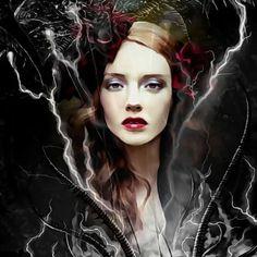 Lydia Anneli Bleth: BELLA DONNA digital art - Halloween