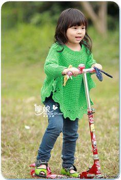 CARAMELO DE CROCHET: poncho para niña