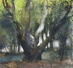 Devichoys chestnut, tree breeze and bird song. May 2009  - Kurt Jackson