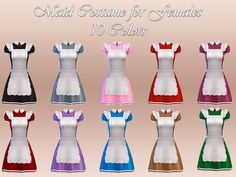 Sims 4 clothes Maid costume for female #ts4cc