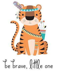 Do you have a tribal nursery that you're decorating? This tribal nursery print that says Be Brave Little One will be a perfect (and adorable) addition! Look at the rest of my collection for more tribal nursery decor and tribal nursery art, too! I have plenty of options for your wildlife nursery, woodland nursery and animal nursery. *****  This download includes one high-quality 8x10 PDF file. The frame and brick background in the sample photos will not be in the final download. How it Works