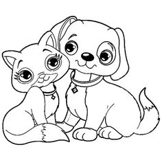 Great Cat And Puppy Dog coloring pages printable and coloring book to print for free. Find more coloring pages online for kids and adults of Great Cat And Puppy Dog coloring pages to print. Zoo Animal Coloring Pages, Puppy Coloring Pages, Paw Patrol Coloring Pages, Alphabet Coloring Pages, Coloring Books, Free Coloring, Kids Printable Coloring Pages, Superhero Coloring Pages, Halloween Coloring Pages