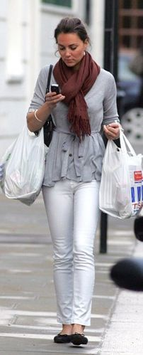 Kate in everyday white jeans