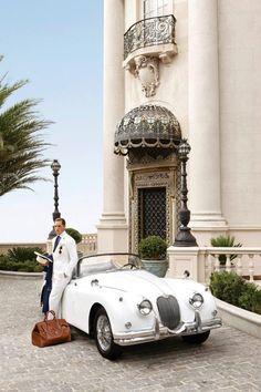 Ralph Lauren Purple Label Spring/Summer 2012 Collection  Jaguar XK150, produced 1957–61