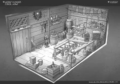 Feng Zhu Design: More Old-School RPG Rooms, FZD Term 2 Students
