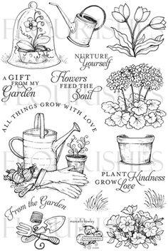 From The Garden             Flourishes stamp set                  $17.99