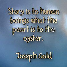 The preciousness of stories.