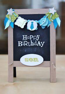 A wonderful Chalkboard Easel card by Julie!