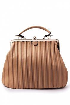 Milan - 1950s Madame DeeDee Oversized Handbag Light Camel