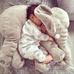 Large Plush Doll Cartoon Stuffed Toys Kids Animal Juguetes Peluches Elephant Pillow Baby Toys For Children Gift Minions So Cute Baby, Cute Kids, Cute Babies, The Babys, Baby Toys, Kids Toys, Toddler Toys, Elephant Pillow, Elephant Baby