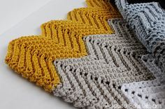 The Wonders Free Chevron Crochet Blanket Pattern || Rescued Paw Designs
