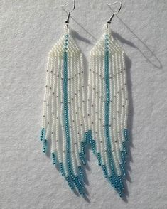 #shannonsbeadwork #beadedearrings #fringes #brickstitch #madeinnewbrunswick SOLD Seed Bead Jewelry, Seed Bead Earrings, Fringe Earrings, Diy Earrings, Seed Beads, Beaded Earrings Patterns, Bead Loom Patterns, Native American Earrings, Beaded Crafts
