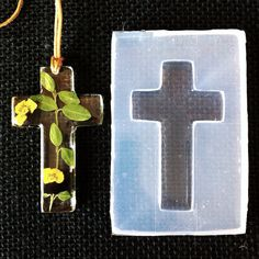 Cross Clear silicone Rubber Mold for jewelry cross, Create Your Own Pendant on Etsy, $25.00