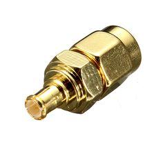 SMA Male Plug to MCX Male Plug RF Coaxial Adapter Connector