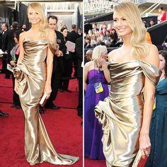 Oscars 2012: Stacy Keibler in Marchesa - she looks as good as Oscar!