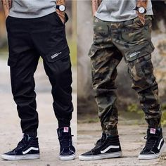 Casual Multiple Packet Floral Printed Pants Source by ronniejdabarber Outfits mens Sneakers Mode, Vans Sneakers, Fashion Joggers, Streetwear Fashion, Men Joggers Outfit, Mode Man, Swag Outfits Men, Casual Outfits, Cargo Pants Men