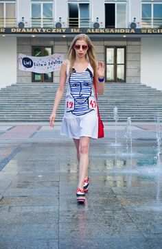 Ahoy, there! Nautical Look Nautical Looks, Jeffrey Campbell, Shirt Dress, T Shirt, Summer Dresses, Fashion, Summer Sundresses, Moda, Shirtdress