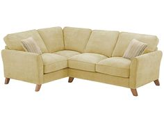 Jasmine Corner Sofa Left Hand in Grace Fabric - Lime with Summer Scatters