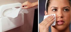 Use a toilet seat cover to blot the oil from a greasy face. | 35 Lifechanging Ways To Use Everyday Objects