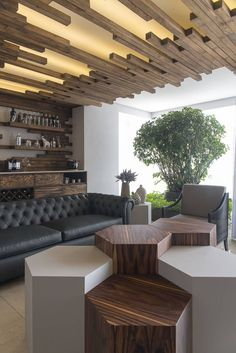 Wood Warms Modern Mexico Apartment in Unexpectedly Creative Ways (Freshome)                                                                                                                                                     More