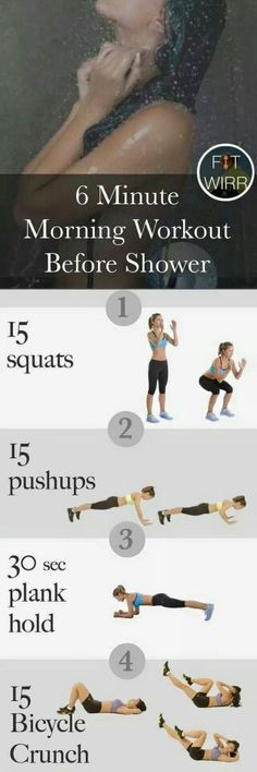 6 Minute Morning Workout -before shower