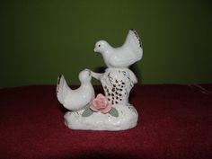 White bird Figurine Bird figurine home decor by VickiesVintageroom