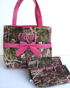 Diaper Bag Personalized Camouflage Camo Real Tree Pink by parsik93, $38.99
