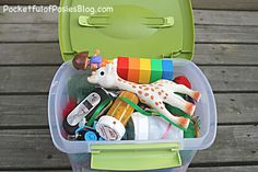 Travel Activity Box for Toddlers - Pocketful of Posies