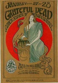 Grateful Dead/Quicksilver Messenger Service Avalon Ballroom Poster
