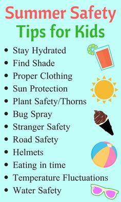 12 Summer Safety Tips - to avoid bummers in summers. {Nested Blissfully} 12 Summer Safety Tips and tricks for Kids, to stay cool so children can have non stop fun. Nutrition Activities, Kids Nutrition, Nutrition Tips, Quest Nutrition, Summer Safety Tips, Water Safety, Kids Safety, Safety Week, Family Safety