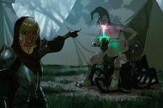 Women Fighters In Reasonable Armor Digital Art Fantasy, Fantasy Art, Fantasy Characters, Female Characters, Character Art, Character Design, Character Ideas, Character Inspiration, Female Knight