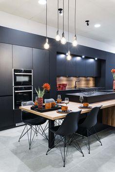 Need some kitchen design ideas? Kitchen Room Design, Living Room Kitchen, Home Decor Kitchen, Interior Design Kitchen, New Kitchen, Design Ideas, Minimalist Kitchen, Luxury Kitchens, Rv Storage