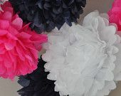 6- tissue Pom Poms- Ready to Pop  baby girl shower