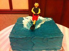 A spoon fulla sugar water skiing cake (me or dad??)