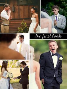 I'm not a huge fan of the first look pictures but I totally LOVE all of these…the grooms faces are so filled with JOY!