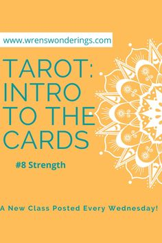 I'm sure you've figured out it's going to be all about the Major Arcana card #8 Strength by the title. Today, I'll cover the upright and reversed standard meanings of the card. I'll also show you a few examples from my decks and give you a general reading that I might do with them. #tarot #tarotclass #majorarcana #8strength #wrenswonderings #wrenstfire Best Tarot Decks, Physic Reading, Tarot Cards For Beginners, Major Arcana Cards, Witchcraft For Beginners, Tarot Card Meanings, Tarot Readers, Tarot Spreads, Card Reading
