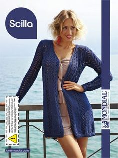 Scilla 3/4 Length Cardigan Free pattern   Go to; http://pinterest.com/DUTCHYLADY/share-the-best-free-patterns-to-knit/ for 2000 and more FREE knit patterns