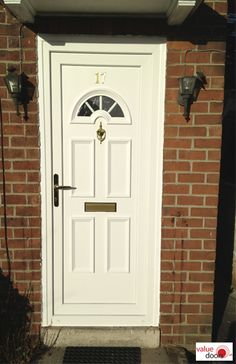 If you're looking for doors fitted near me, you'll be pleased to know that we install uPVC Doors UK wide. Click the link to see our uPVC Door prices fitted online. Upvc Porches, Upvc French Doors, Doors Online, Door Price, Composite Door, Front Door Colors, White Doors, Back Doors