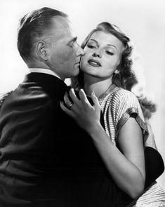 George Macready and Rita Hayworth in a publicity photo for Gilda, 1946.