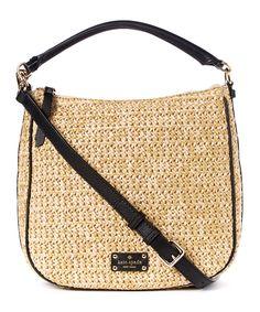 Natural & Black Small Ella Crossbody Bag