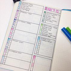 Getting ready for the week ahead! #weeklyspread #bulletjournal #bulletjournaljunkies #bujo #planning #organisation
