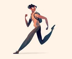 Illustration, Design, Motion Graphics, Comics, and maybe some other things by Jarom Vogel Winter Illustration, People Illustration, Flat Illustration, Character Illustration, Graphic Design Illustration, Digital Illustration, Triathlon, Body Poses, Graphic Design Typography