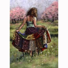 woman dancing print Summer Smiles Painting  by by AlisaPaints, $48.00