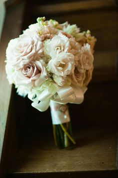 Ivory and rose bridal bouquet