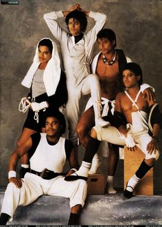 The Jacksons (Circa 1984) Jackie, Tito,Jermaine, Marlon, Michael, and Randy Jackson