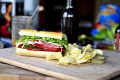 Italian Sub Sandwich. The dressing is what makes this sandwich over the top good.